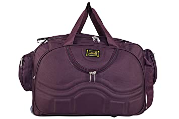 alfisha Lightweight Waterproof Luggage Travel Duffel Bag with Roller Wheels  - Purple 0f385a961c