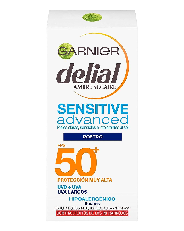 Garnier Delial Sensitive Advanced Crema Especial Rostro Y Escote Protector Solar Ip50+  50 Ml by Garnier Delial