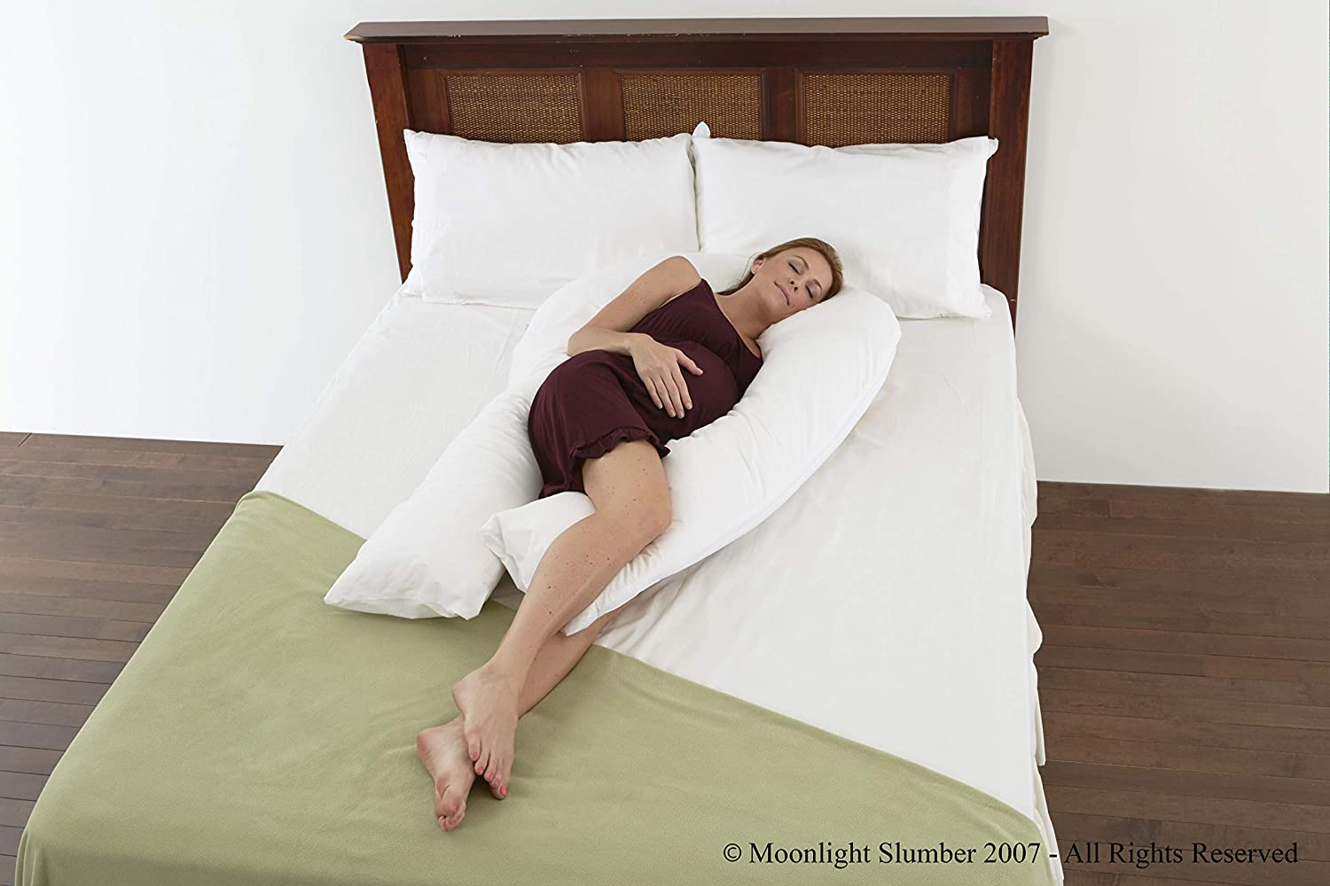 Lancashire Bedding Supreme Comfort U Shaped Total Body Support Pregnancy Maternity Pillow - with FREE cover - Made In The UK! 5956331