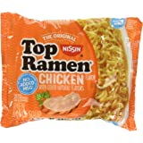 Nissin Top Ramen Noodle Soup Chicken Flavor 3 Ounce Packages - 5 Pack