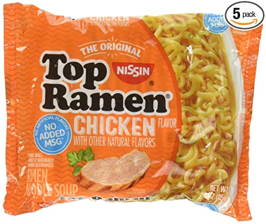 Amazon.com : Nissin Top Ramen Noodle Soup Chicken Flavor 3 Ounce ...