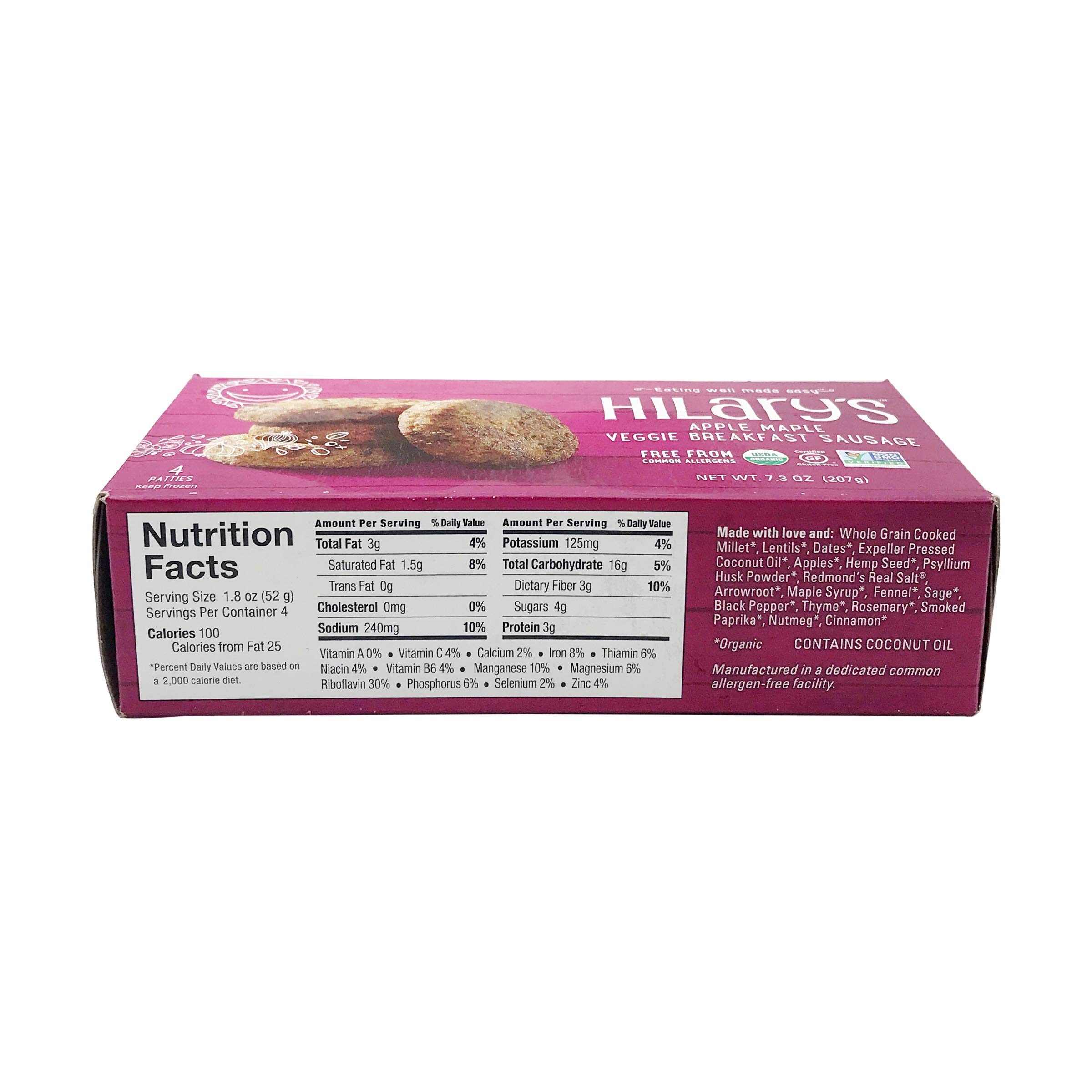 Hilary's Breakfast Sausage Variety Pack, 3 of each Flavor (6 Pack) by Hilary's (Image #3)