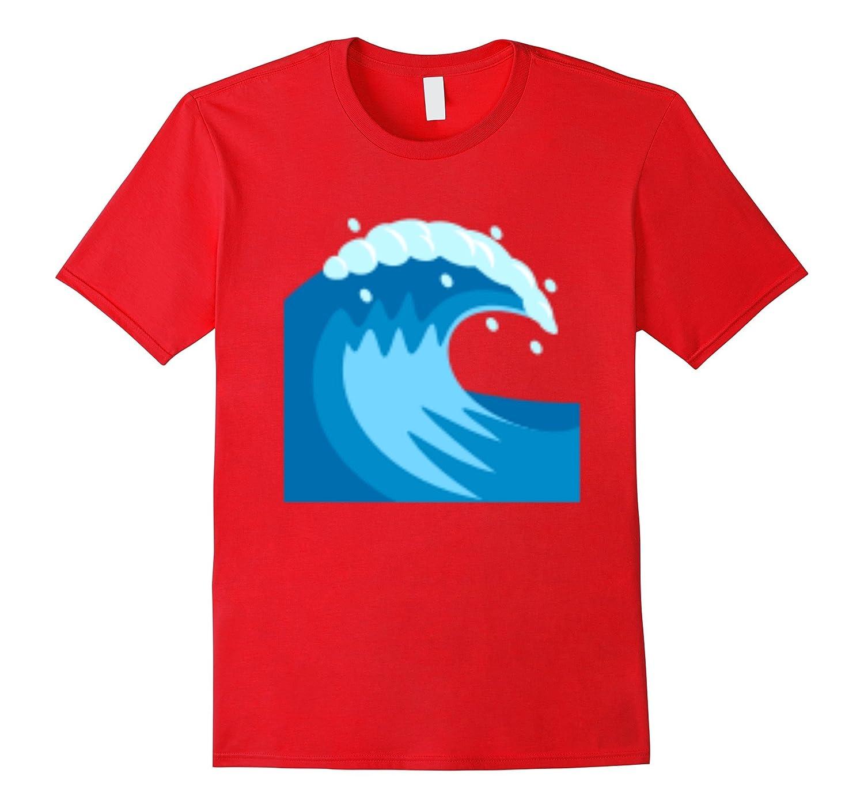 Emoji T-shirt Water Wave Emoticon Ocean Surf-T-Shirt