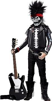 Disfraz esqueleto rockero niño 8 a 10 años (128-140): Amazon.es ...