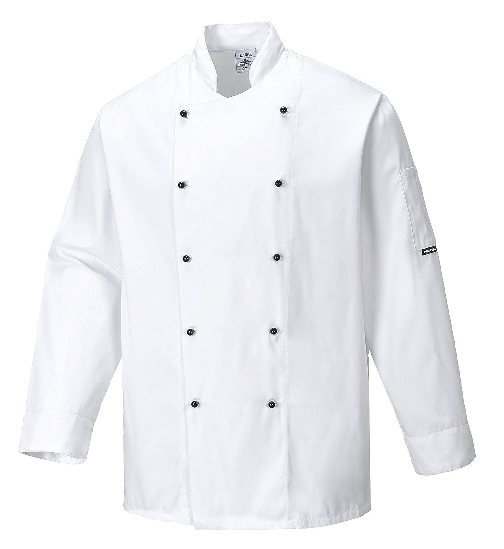 Portwest C834WHRXXXL Giacca da Chef Somerset, Bianco, 3XL