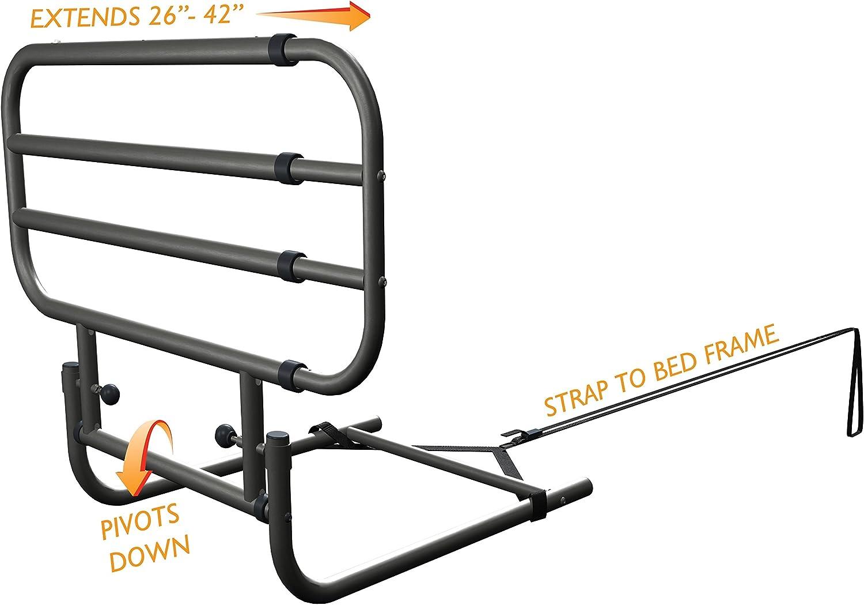 verstellbar Bettgitter Einstiegshilfe verstellbar StelComfort Bettgitter schwenkbar beidseitig verwendbar