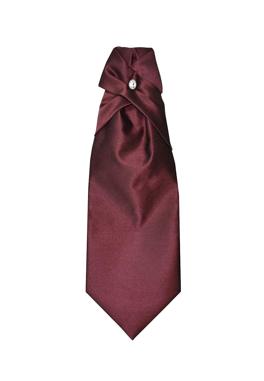 Adjustable Remo Sartori Made in Italy Mens Solid Wedding Cravat Ascot Tie PreTied
