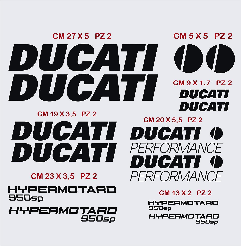 Kit Adesivi stickers compatibile Ducat Hypermotard 950sp moto decal scegli colore cod 1401 010 BIANCO