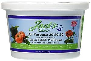 J R Peters Jacks Classic 20-20-20 All Purpose Fertilizer, 8-Ounce
