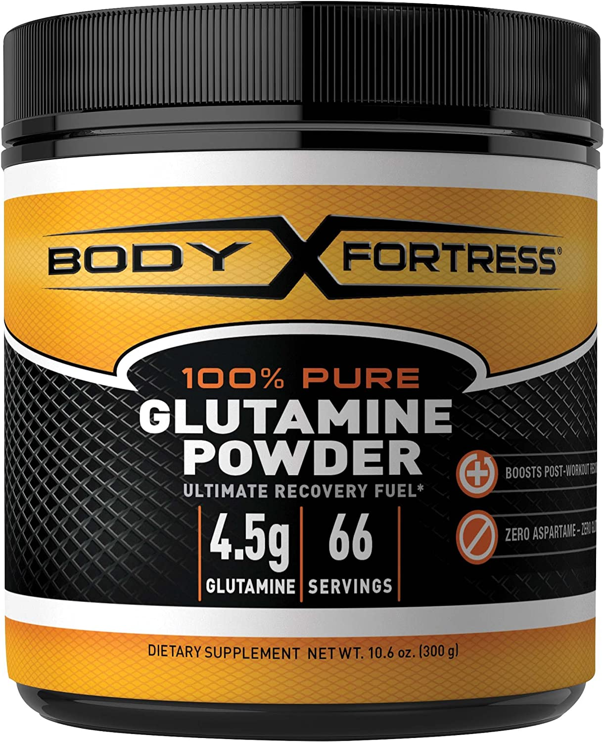Body Fortress 100% Pure Glutamine Powder, Supports Post Workout Recovery, 10.6 oz: Health & Personal Care