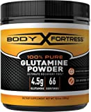 Body Fortress 100% Pure Glutamine Powder, 300g Jar (1ct), Nutrient Replenishment Powder for Post-Workout Recovery Glutamine Supplement