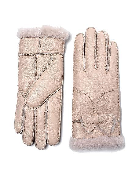 YISEVEN Guanti in pelle di montone Shearling robusti di da donna  Amazon.it   Abbigliamento 193b0601d1c4