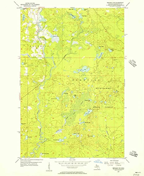 Amazon Com Yellowmaps Republic Sw Mi Topo Map 1 24000 Scale 7 5