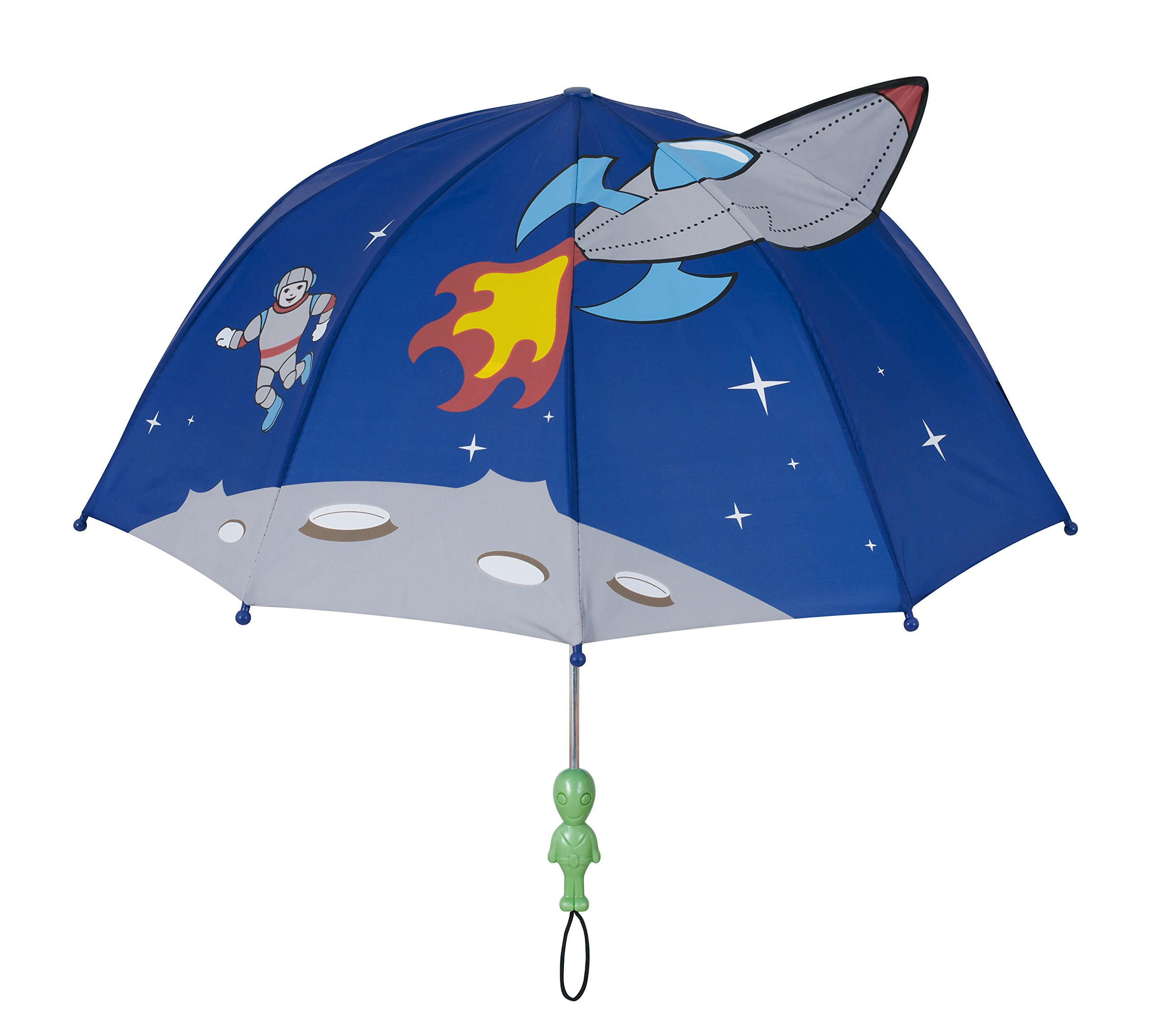 Kidorable Kids Space Umbrella, Blue, One Size for Toddlers and Big Kids, Lightweight Child-Sized Nylon Rain Proof Umbrella