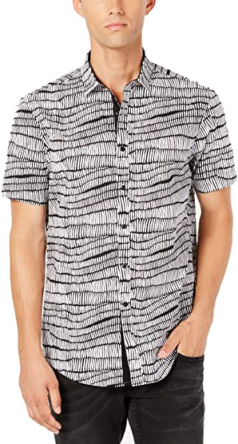 INC International Concepts Mens Short Sleeve Button Front Oxford Shirt