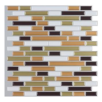 Art3d 10 Pack Peel N Stick Backsplash Tile Sticker Vinyl Wall Covering
