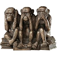 The Hear-No, See-No, Speak-No Evil Monkeys Statue in Faux Bronze [Kitchen]