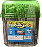 "Sour Punch Twists, 6"" Individually Wrapped Soft & Chewy Candy Tub, 4 Fruit Flavors, 62.4 Oz"
