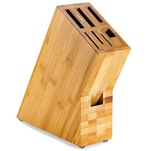 Amazon.com: Bloque de almacenamiento de cuchillos de bambú ...
