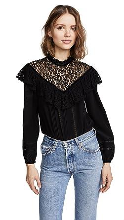 f0c3e59a702dcc Amazon.com  Rebecca Taylor Women s Long Sleeve Silk Lace Top  Clothing