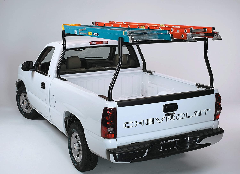 Truck Ladder Rack Adjustable Heavy Duty 800Lbs Contractor Lumber Kayak Utility