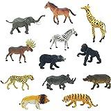 Boley 12 Piece Jumbo Safari Animal Set - Educational Zoo Animals and Jungle Animals for Kids, Children, Toddlers - Includes Elephant, Horse, Giraffe, Moose, Zebra, Bear, Gorilla, and More!