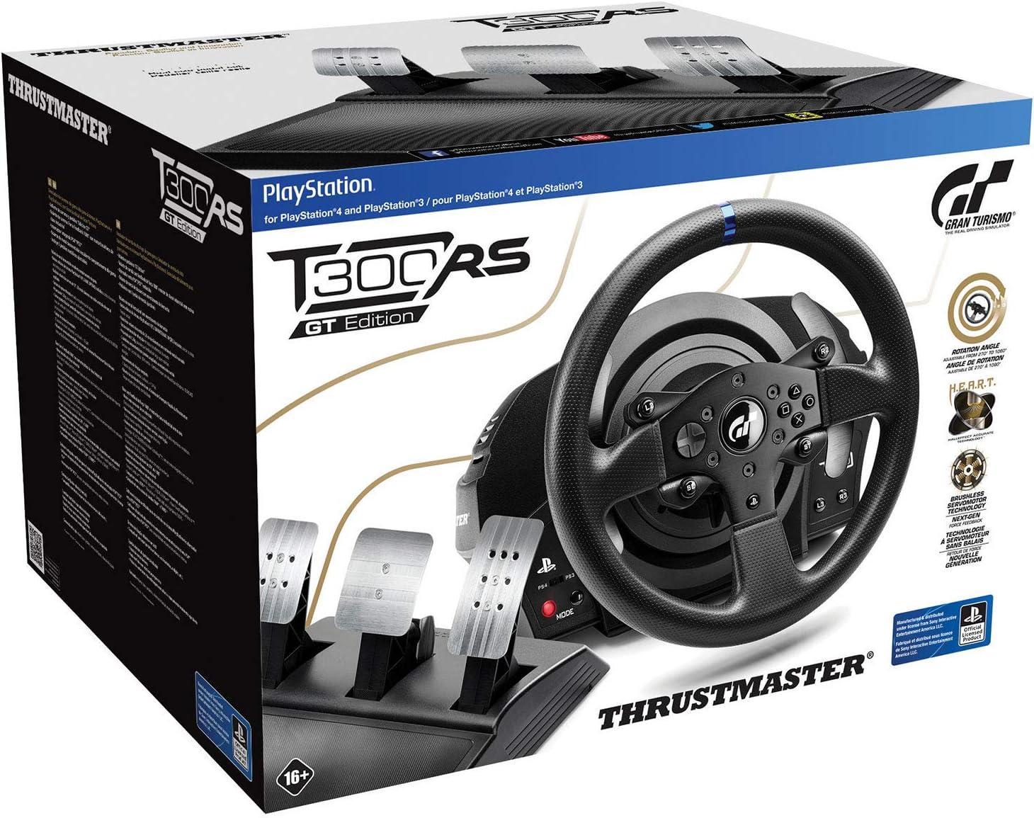 Amazon com: Thrustmaster T300 RS GT Racing Wheel - PlayStation 4
