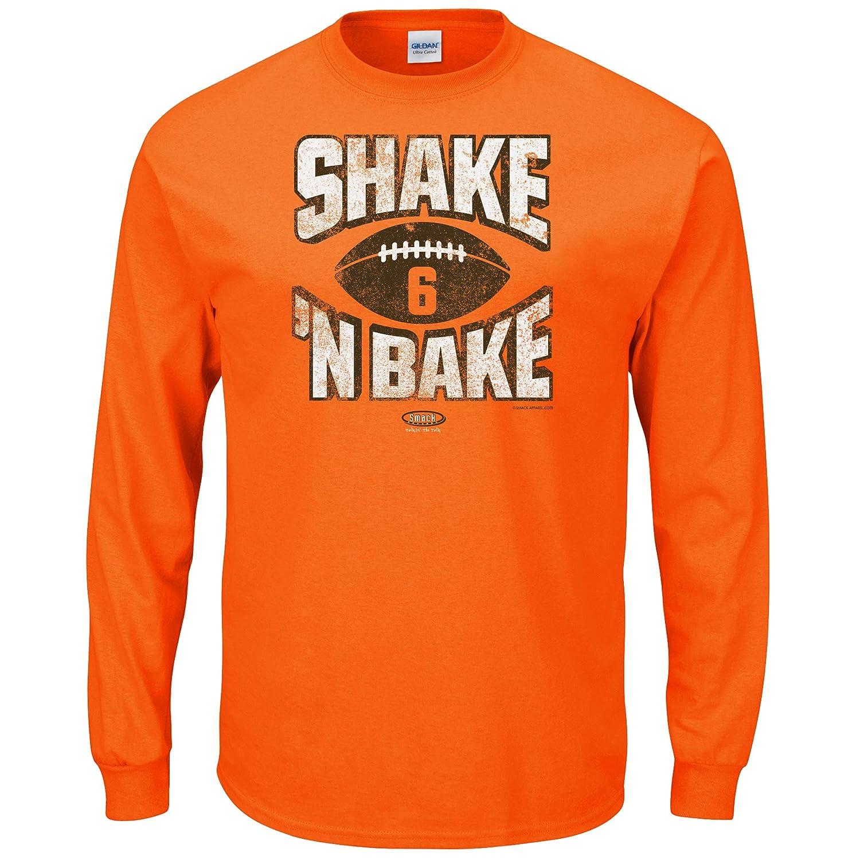 Smack Apparel クリーブランドフットボールファン Shake N Bake オレンジ Tシャツ (Sm-5x)  X-Large