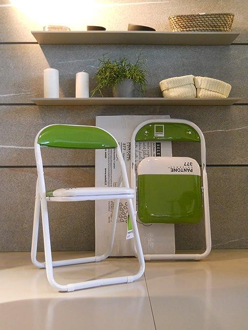 Seletti Pantone Metal Silla de bebé Plegable, Metal, Verde ...