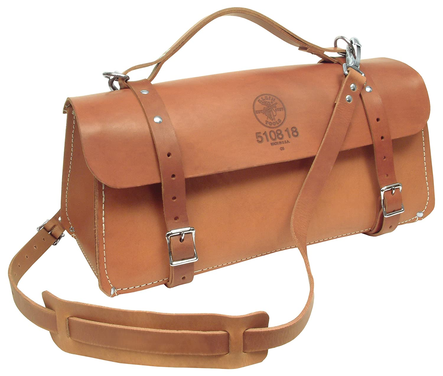 Klein Tools 5108-18 Delux Leather Bag, 18-Inch by Klein [並行輸入品] B0002DOHAE