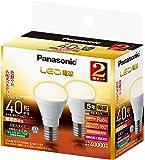 パナソニック LED電球 口金直径17mm 電球40W形相当 電球色相当(4.2W) 小型電球・広配光タイプ  2個入 密閉型器具対応 LDA4LGE17K40ESW22T