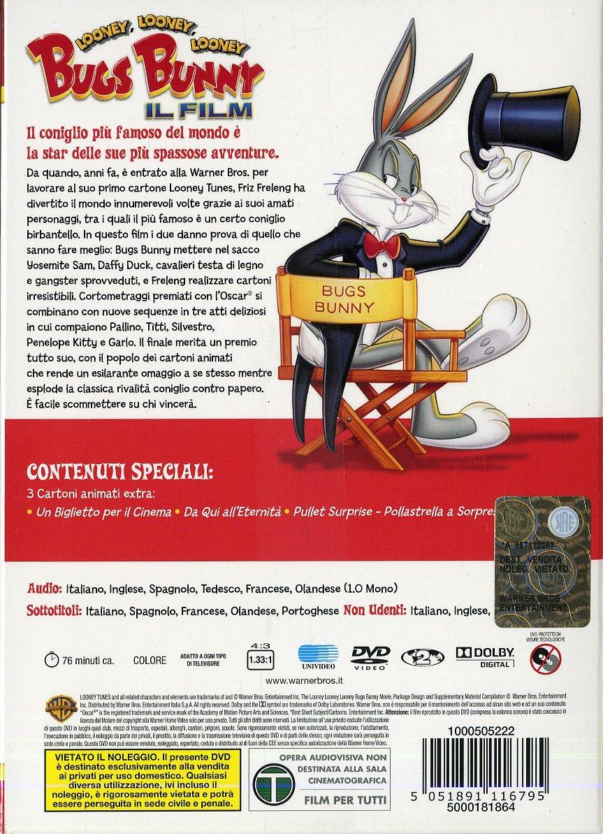 Amazon.com: looney tunes - il tuo simpatico amico bugs bunny (dvd+peluche) dvd Italian Import: animazione,!!!, charles visser: Movies & TV
