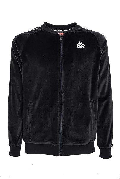 a3933ad19ea Kappa Men's 3031Q80907 Black Cotton Sweatshirt: Amazon.co.uk: Clothing