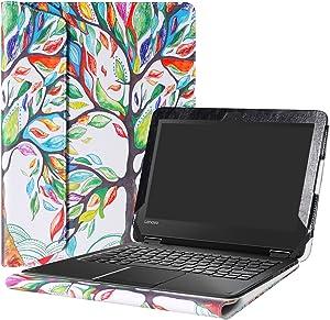 """Alapmk Protective Case Cover for 11.6"""" Lenovo N24 Windows & Lenovo N23 Windows/Lenovo 300e Windows Laptop(Warning:Not fit Lenovo N23 Chromebook/N23 Yoga Chromebook/Lenovo 300e Chromebook),Love Tree"""