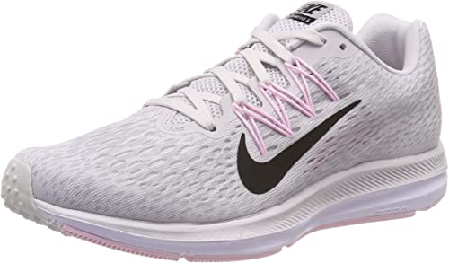 Nike Women's Air Zoom Winflo 5 Running Shoes (6, GreyPink)