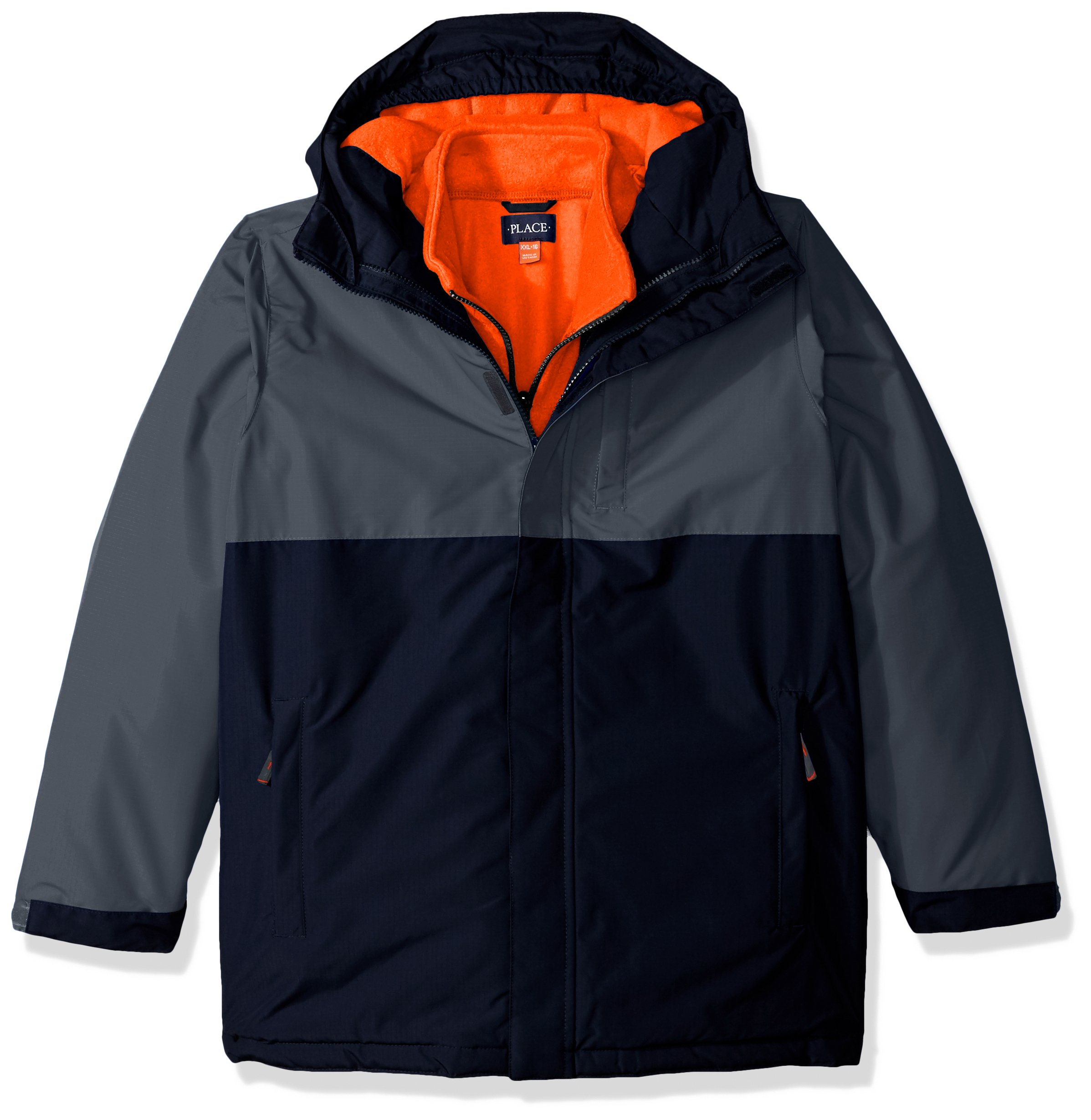 The Children's Place Big Girls' 3-in-1 Jacket, Storm, XS (4)