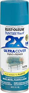 Rust-Oleum 257461 Painter's Touch 2X Ultra Cover, 12 Oz, Satin Lagoon