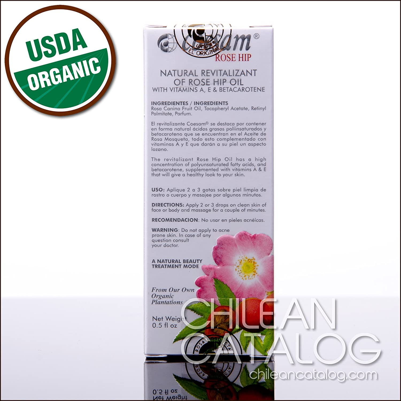 Amazon.com : Natural Revitalizant of Rose Hip Oil [Coesam Chilean Rosehip] : Body Oils : Beauty