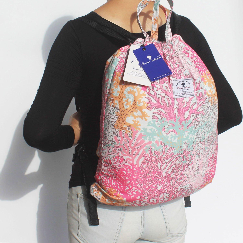 Lightweight Water Resistant Sea Bags Drawstring Backpack,Beach Bag,Pool Bag or Gym Travel Tote
