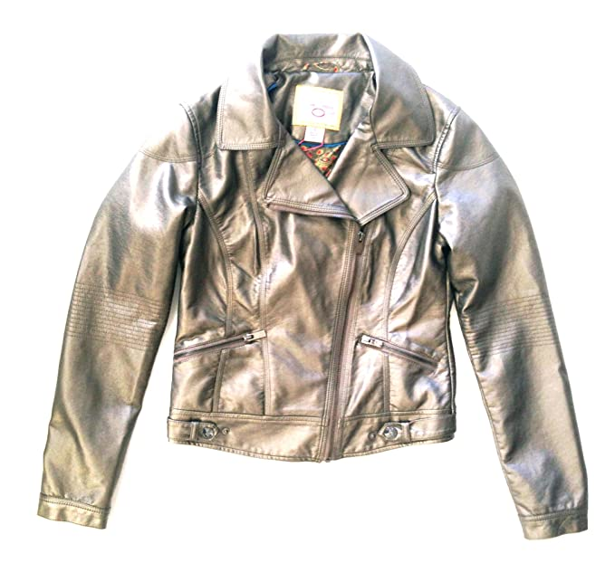 f7de60840bc Image Unavailable. Image not available for. Color  Pink Envelope Junior  Faux Leather Jacket - Pweter Small Size