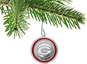 Green Bay Packers Silver Mint Coin Christmas Ornament & Holiday Gift Collectible