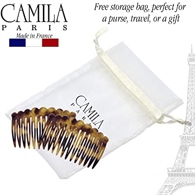 Camila Paris CP2431 Tortoise Shell French Hair Side Comb for Women