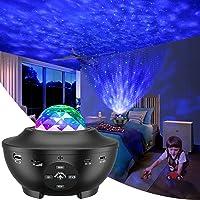 Galax projektorlampa, LED stjärnljus projektor sovrum nattlampa färgskiftande lampa roterande romantisk stjärnor våg…