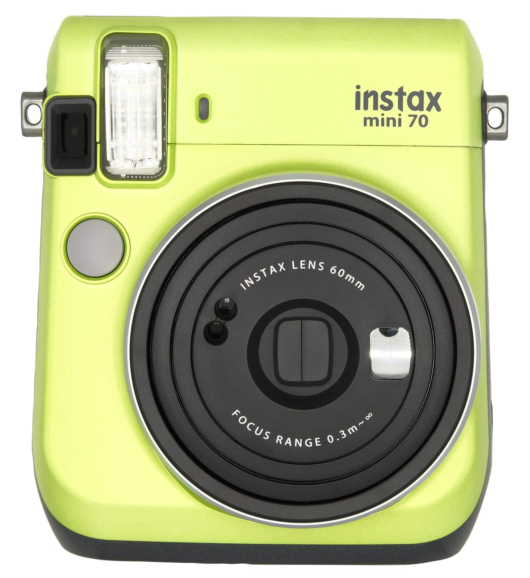 Fujifilm Instax Mini 70 - Instant Film Camera (Kiwi Green) (Renewed) by Fujifilm