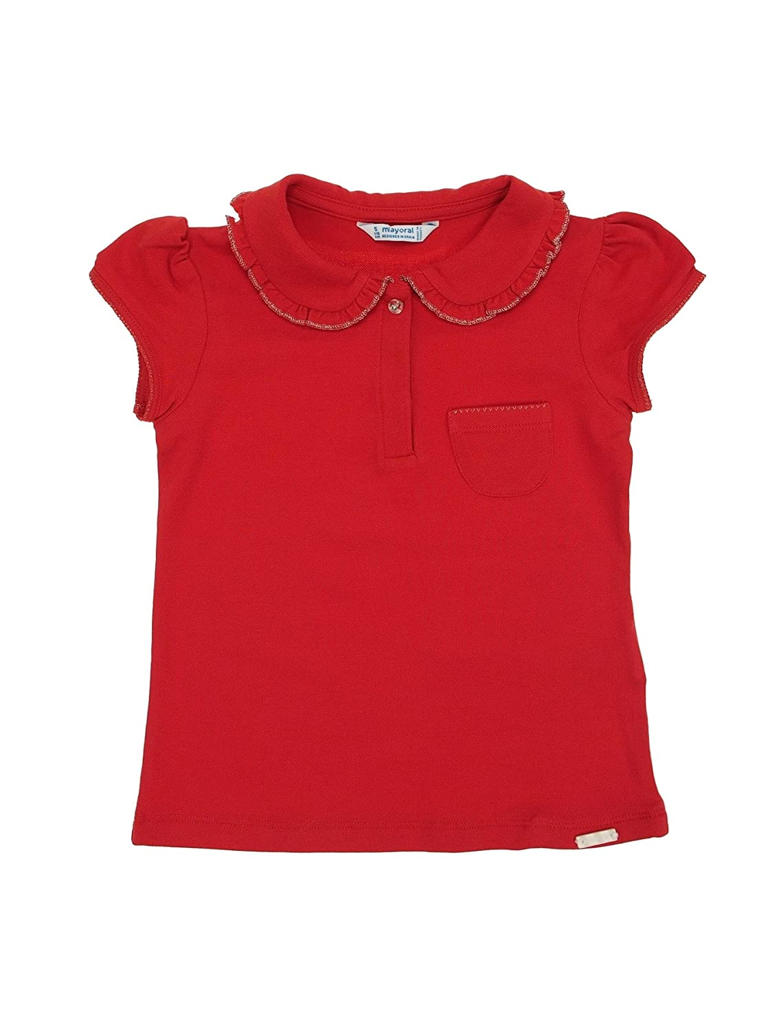 Red Mayoral 0147 S//s Polo for Girls