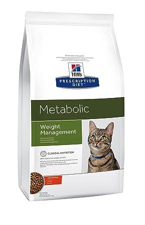 Hills Prescription Diet - Alimento para Gatos para Control de Peso. Croquetas de Pollo. 8 kg