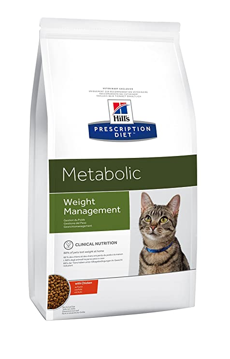 Hills Prescription Diet - Alimento para Gatos para Control de Peso. Croquetas de Pollo.