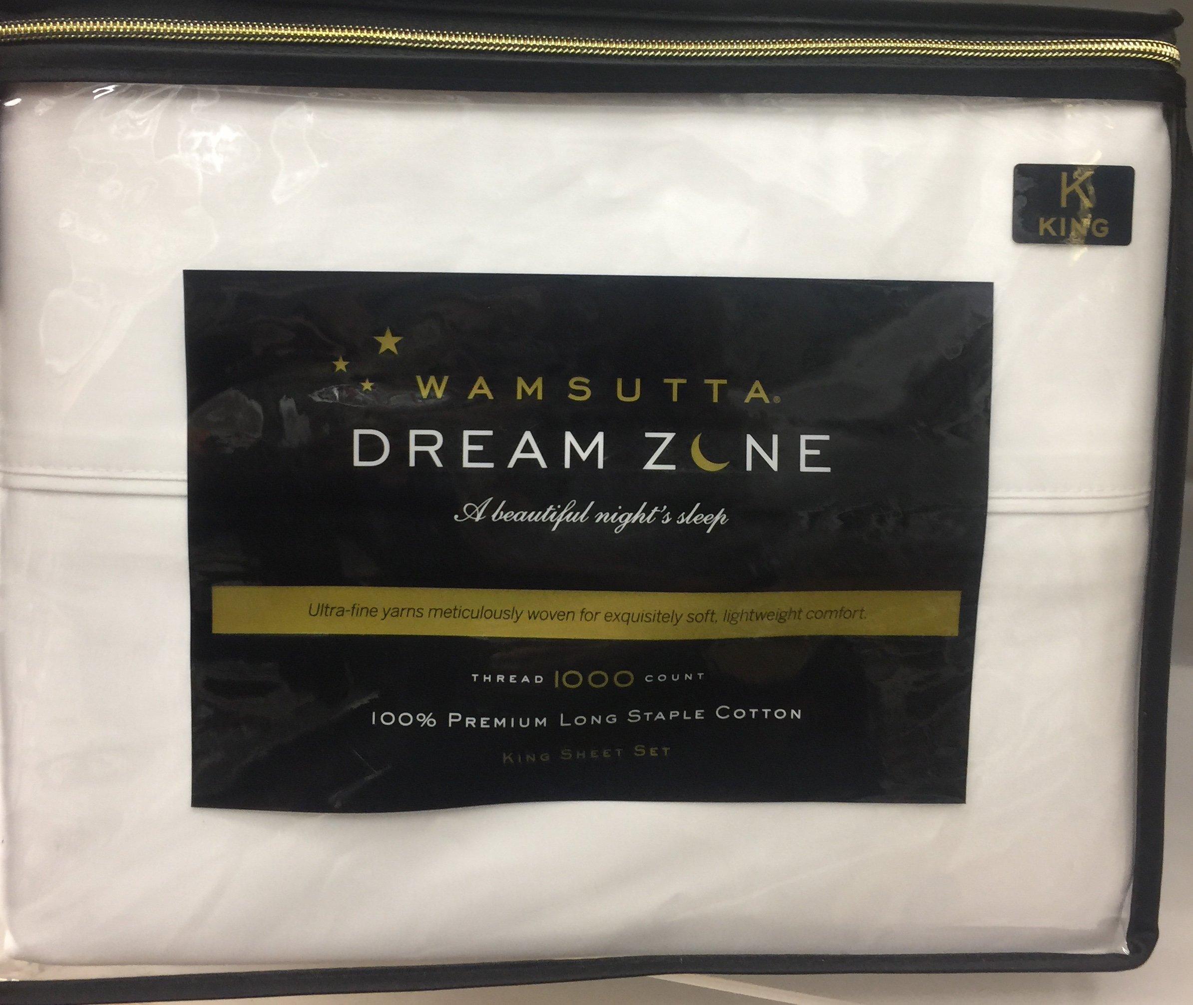 Wamsutta Dream Zone Deep Pocket White King Sheet Set, 1000 Thread Count