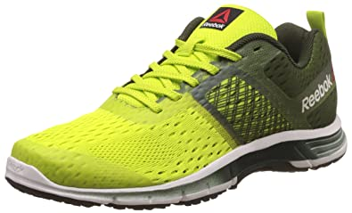 reebok mens running shoes. reebok men\u0027s ride one green, yellow, white and black running shoes - 10 uk mens