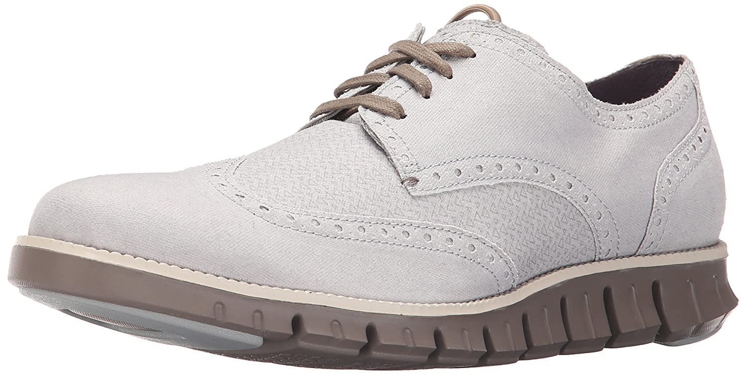 Amazon.com | Cole Haan Men's Zerogrand DC WNG S.O Oxford, Silver Mist  Canvas, 7.5 M US | Shoes